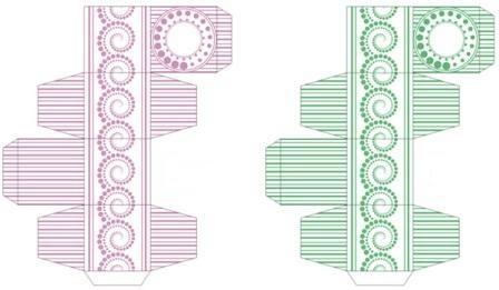 Printable jewelry box template